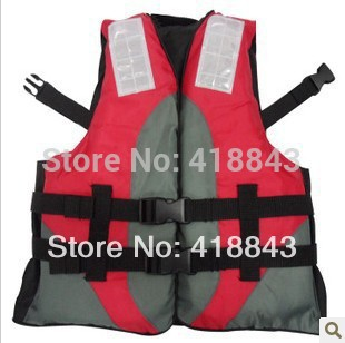 Professional Children's swimsuit red and white vest life jacket best quality(China (Mainland))