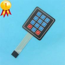 Buy 5PCS 4x3 Matrix Array 12 Key Membrane Switch Keypad Keyboard 3*4 Control Panel Microprocessor Keyboard Arduino AVR 12 Keys for $2.89 in AliExpress store