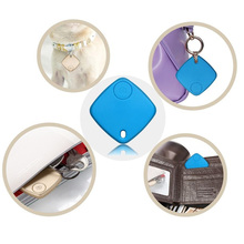 Key Finder 3 in 1 Self-timer Smart Tag Bluetooth Tracker Child Bag Wallet Tracer Locator Alarm Tracker for iPhone IOS Blue