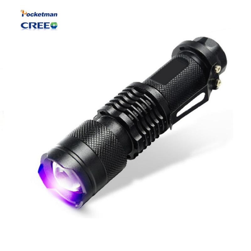 2016 NEW CREE LED UV Flashlight SK68 Purple Violet Light UV 395nm torch Lamp free shipping(China (Mainland))
