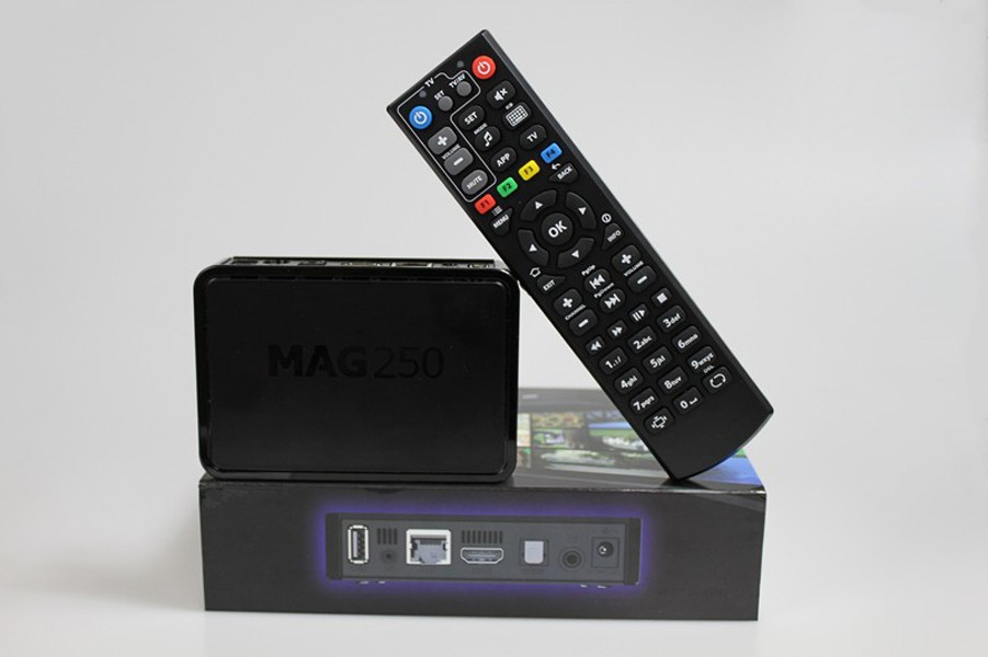 1pc Hot Sale Mag250 Linux System Iptv Set Top Box Support Wifi Dongle Without