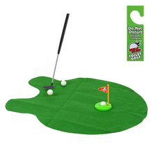 Free Shipping New Toilet Bathroom Mini Golf Potty Putter Game Men's Toy Novelty Gift K5BO(China (Mainland))