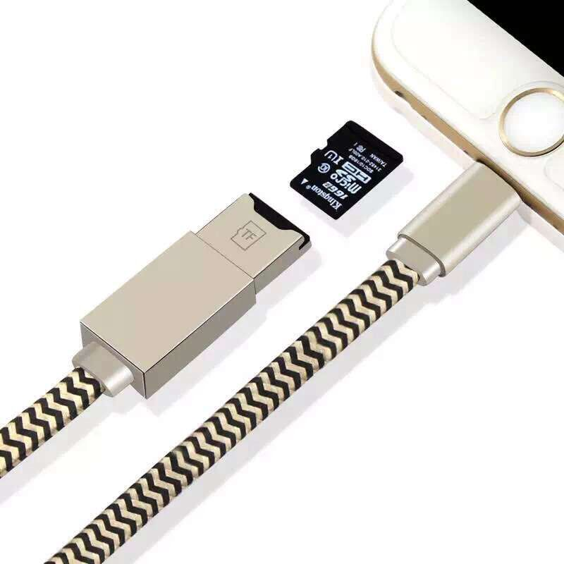 3 in 1 for Lightning Data Charging Cable micro sd/tf Card Reader writer for iPhone 5/5s/6/6s/6 plus/6s plus for ipad mini/air(China (Mainland))