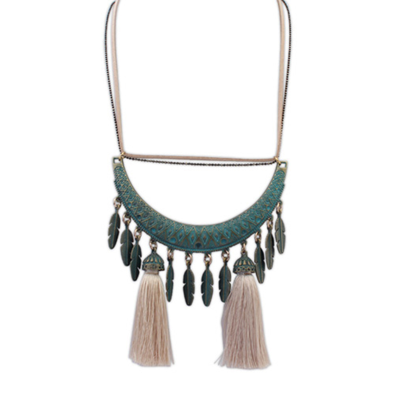 Women Statement Necklaces Retro Bronze Owl Elephant Leaves Flowers Tassel Necklaces & Pendants Punk Maxi Necklace 11 Styles PD23(China (Mainland))