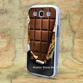 cover chocolate Pattern hard transparent clear Cover Case for samsung galaxy s3 s4 s5 mini s6
