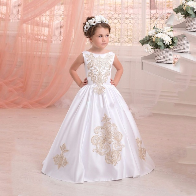 Online Get Cheap Satin Off White Flower Girl Dresses -Aliexpress ...