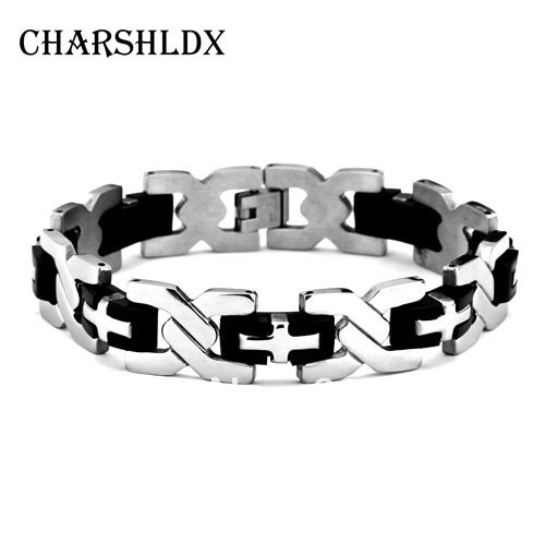 Stainless steel bracelet #CB0165 men jewelry fashion cufflinks items 2013 vintage chain brand bracelets & bangles - VK OutDoor Store store