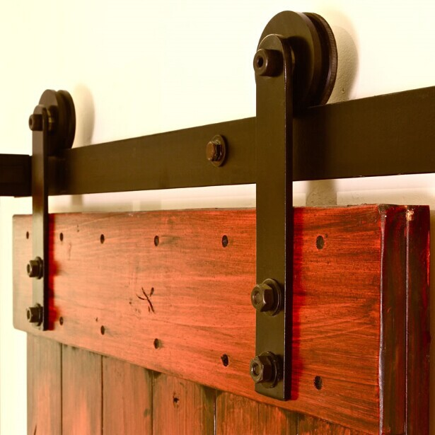 Sliding wood door barn door hardware for interior doors in - Rail pour porte de grange coulissante ...