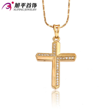 Xuping Fashion Pendant Hot 2015 Women Jewelry 18K Gold Plate Synthetic CZ Charmming Design High Quality for Holiday 32120(China (Mainland))