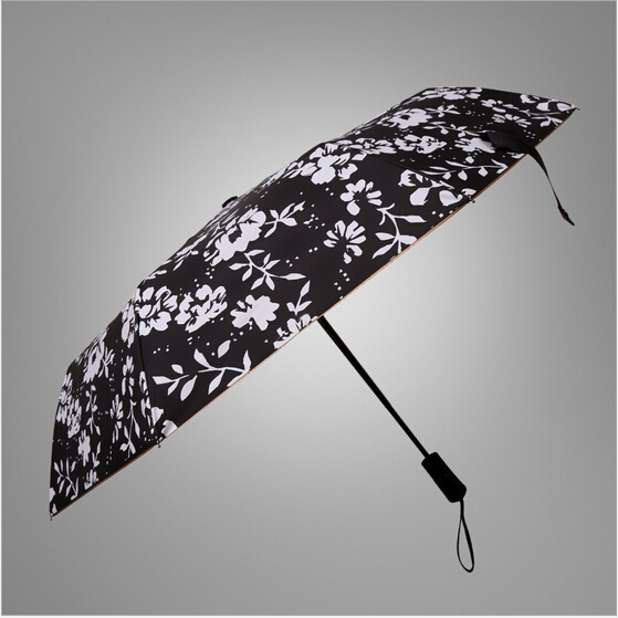 2016 New Fashional Classic men's business style fully automatic folding umbrella with super sunscreen function(China (Mainland))