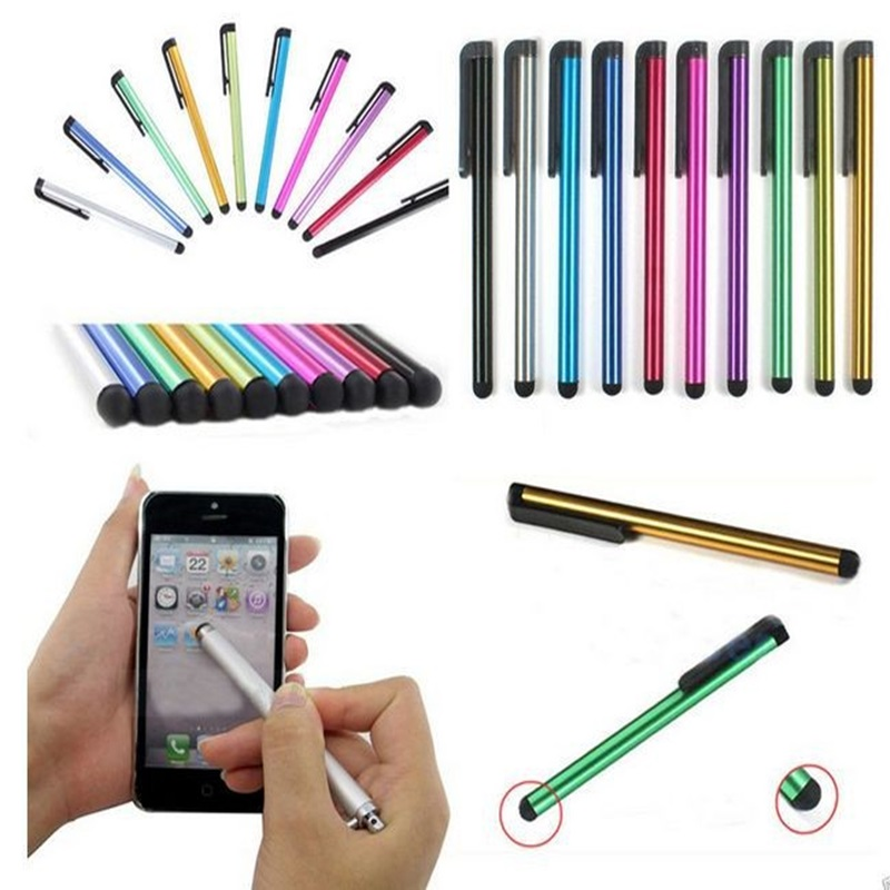 Wholesale 10pcs/lot Metal Stylus Touch Screen Pen for iPhone 5 4s iPad 3/2 iPod Touch Suit for Universal Smart Phone Tablet PC(China (Mainland))