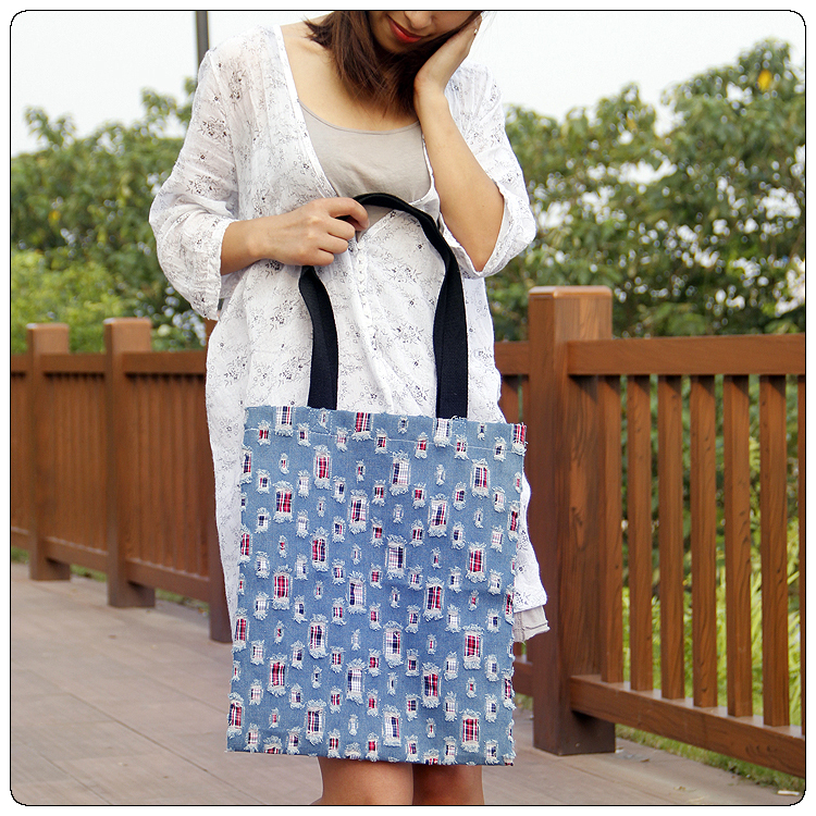 Cheap Eco Canvas Shopping Bag Popular Selling Canvas tote Bag new products women reusable grocery bag handbags(China (Mainland))