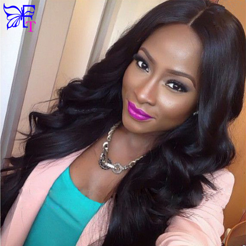 8A Full Lace Front Wigs Brazilian Body Wave Full Lace Human Hair Wigs Glueless Virgin Hair Body Wave U Part Wigs For Black Women