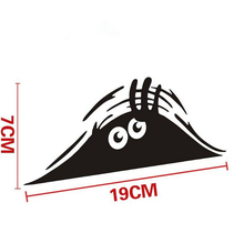 19*7cm Funny Peeking Monster Auto Car Walls Windows Sticker Graphic Vinyl Car Decals Car Stickers Accessories(China (Mainland))