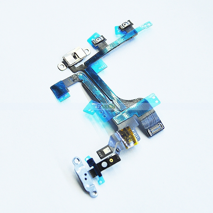 Power on/off Switch Button Flex Cable Replacement Repair Parts for iPhone 4 4S 5 5S 5C 6 4.7'' 6 Plus 5.5''(China (Mainland))