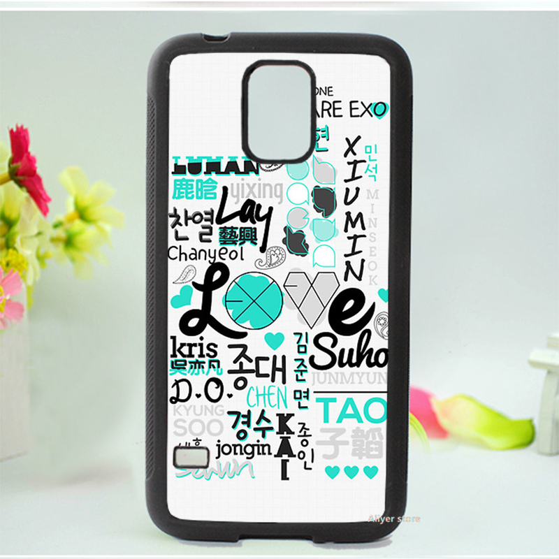 EXO kpop fashion original cell phone case cover for Samsung galaxy S3 S4 S5 Note 2 Note 3 #02(China (Mainland))