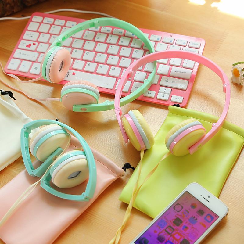 New Birthday Gifts Cute font b Headphones b font Candy Color Foldable font b Kids b
