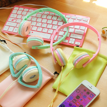 New Birthday Gifts Cute Headphones Candy Color Foldable Kids Headset Earphone for Mp3 Smartphone Girl Children Xiaomi PC Laptop