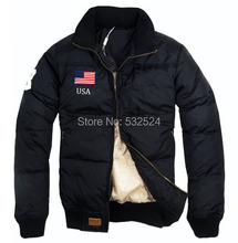 2014 Brand New Classic Fashion Men's USA Flag thickening collar Down Jacket,Men Winter Outdoor Coat ,jaqueta masculina ,8 color