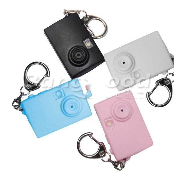 Dongdong Real Flash Luminous Sound Cartoon mini Camera LED Key Chain(China (Mainland))