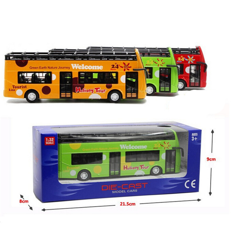 Free Shipping 2015 Novelty Large Size Travel Bus Alloy Car Toys for Children's Christmas Present,1:32 Scale Tourist Bus Kids Toy(China (Mainland))