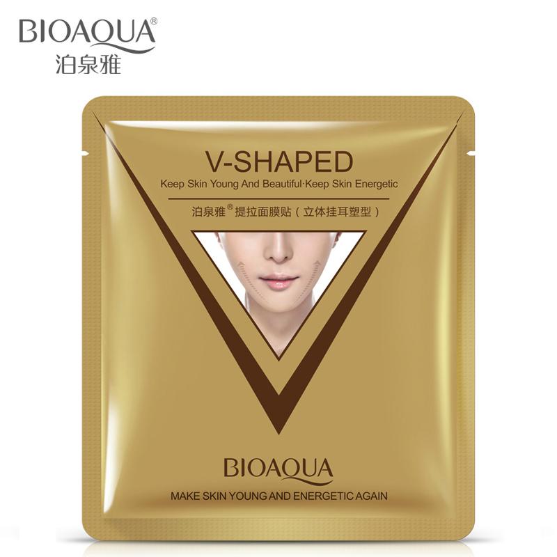 brand sheet mask face care facial chin V shaped lifting collagen face masks cosmetic firming whitening bioaqua beauty mask face(China (Mainland))