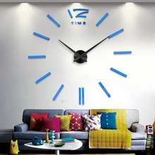 Buy Silver needle clock dial mirror sticker DIY wall clocks home decoration wall clock meetting room wall clock for $9.59 in AliExpress store