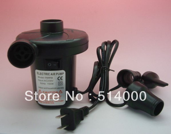 Free shopping 2013 NEW Mains Electric Air Pump 240V Adapter For Inflator Airbed Bed Paddling Pool