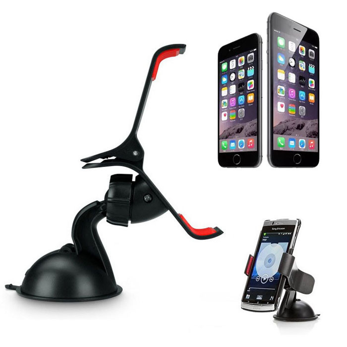 Universal Car Windshield Mount Stand Holder For iPhone 6/6 Plus Samsung GPS(China (Mainland))