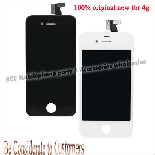 100% original new for iPhone 4 4g LCD Display+Touch Screen digitizer+Frame Assembly completed White Or Black Free Shipping