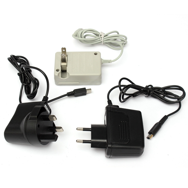 AC Adapter Power Supply 3 Pin Mains Charger Cable For Nintendo NDS Lite Game Console Charging Equipment(China (Mainland))