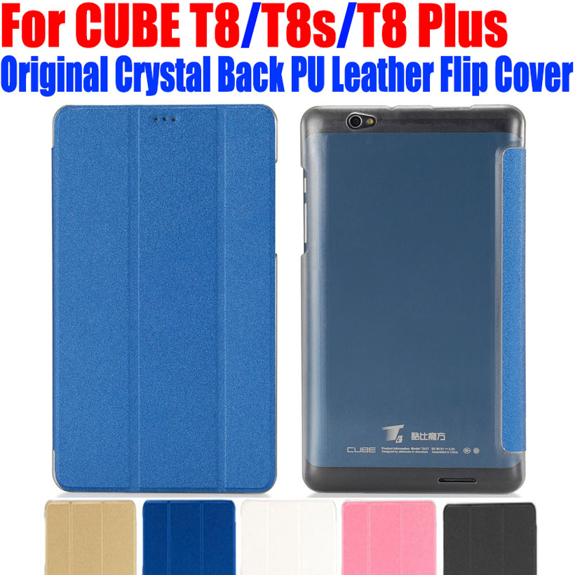 Original Luxury PU Leather Case Flip cover For CUBE T8 t8s t8 plus Crystal Back tablet pc Case For CUBE T8 Best Quality CB01(China (Mainland))