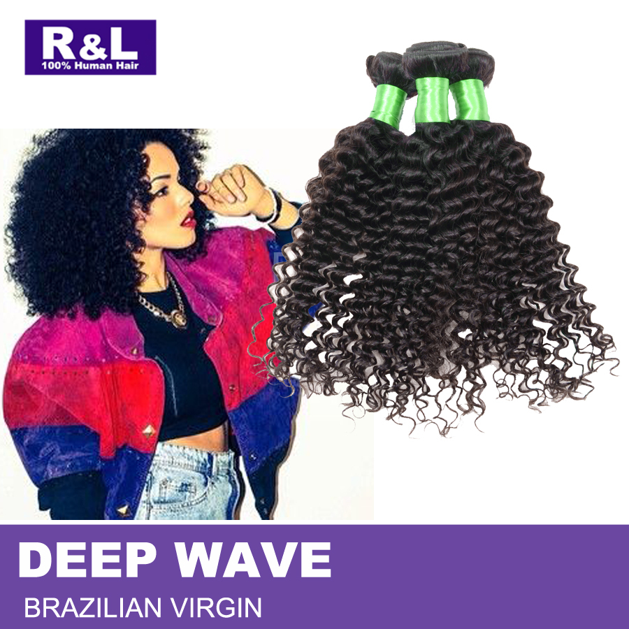 Cheap Braizilian virgin hair deep wave 3pcs Virgin Brazilian  Hair Weave Bundles Brazilian deep wave virgin hair 100%human hair