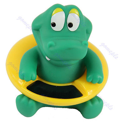 P80 Cute Crocodile Baby Infant Bath Tub Thermometer Water Temperature Tester Toy(China (Mainland))