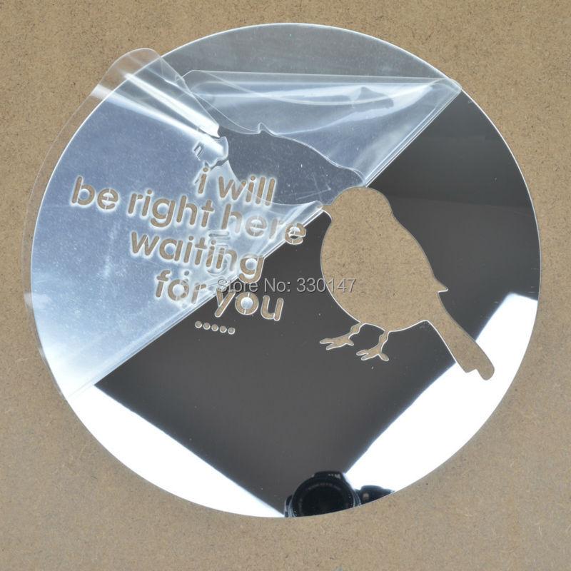 Achetez en gros rond noir miroir mural en ligne des for Gros miroir rond