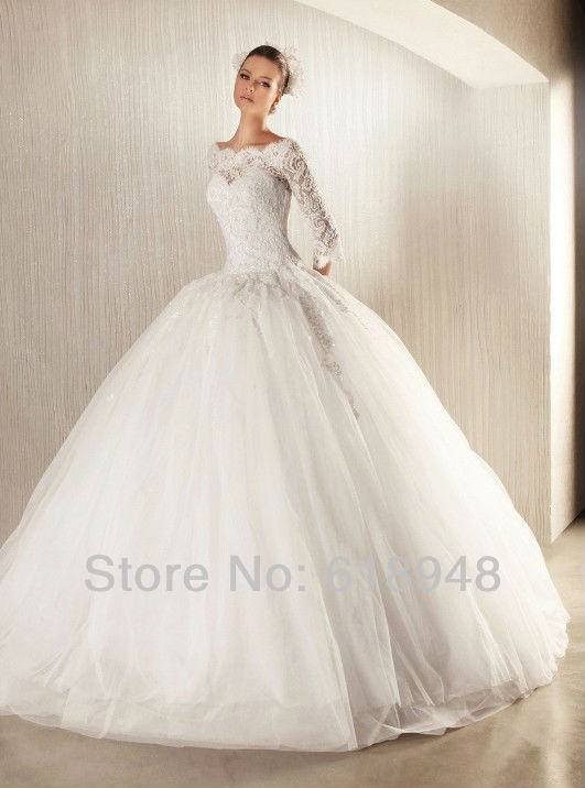 2013 New Design Free Shipping Custom Made Princess Ball Gown Luxury Popular L
