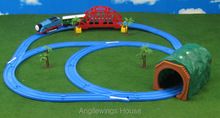 Thomas baby toys Track Master LED Electric Rail Road train Set classic toy birthday kids gift for children(China (Mainland))