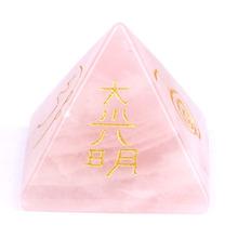 ddh001328 Natural Tumbled Rose Quartz Carved Chakra Pyramidal Crystal Healing Crafts