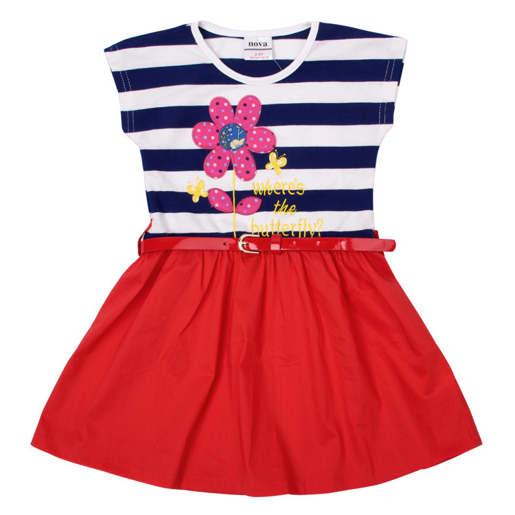 AliExpress.com Product - 2T 3T 4T 5T 2014 new Cartoon cotton girls dress elegant formal children clothing nova Hot-selling Top quality baby girl dress