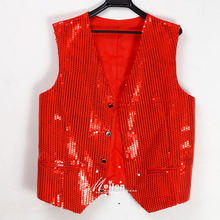 men fitted vest Costume men's clothing the wedding vest male paillette suit vest(China (Mainland))