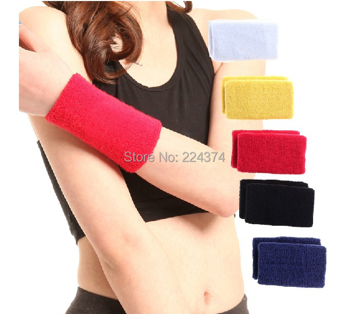 Promotion A Pair Of Brand New Colorful Towel Cotton Sports Wristband Wrist Support Protector Sweatband Basketball/Tennis/Gym JNO(China (Mainland))