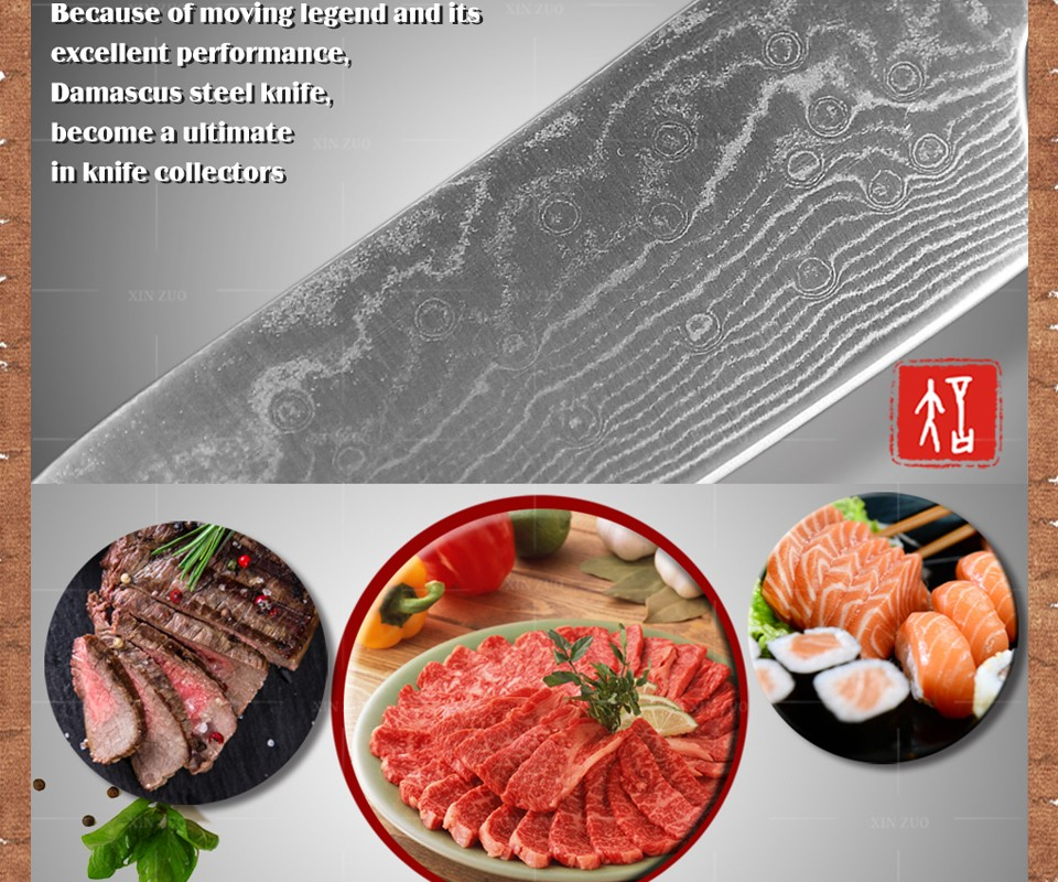 """Buy NEW 6"""" Japanese chef knife Damascus steel kitchen knives Japanese VG10 chef knife kitchen tool Micarta handle Free shipping cheap"""