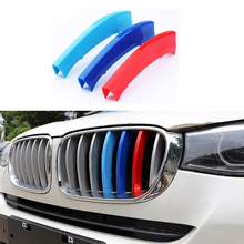 3 Pcs/Set Car Styling Front Grille Cover Decoration Trim Strips ABS Colors BMW X3 X4 F25 F26 2010 2011 2012 2013 2014 2015 - Super-Cars store