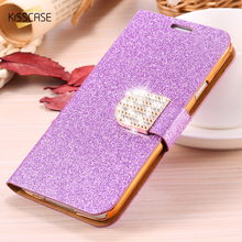 Buy KISSCASE Galaxy S5 Crystal Diamond Cover Fashion Women Bling Glitter Leather Flip Case Samsung Galaxy S5 9600 Card Slots for $3.99 in AliExpress store