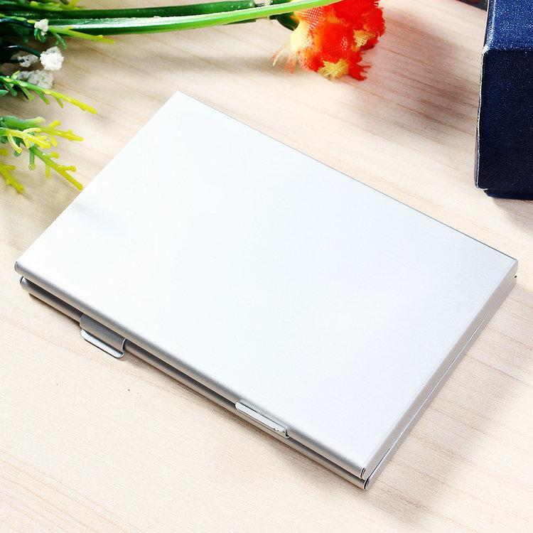 New 6 Slots Aluminum SD SDHC MMC Memory Card Storage Box Protecter Case hold 6x SD Free shipping(China (Mainland))