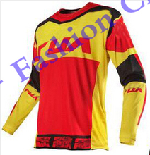 Free shipping 2016 Racing Mx Gear 180 Imperial Red Yellow Dirt Bike Adult Motocross Jersey Motocross Bicycle Motorcycle(China (Mainland))