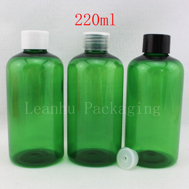 220ml X 24 empty green cosmetic PET bottle , 220cc colored liquid plastic bottle container,DIY empty shampoo bottle cosmetic<br><br>Aliexpress