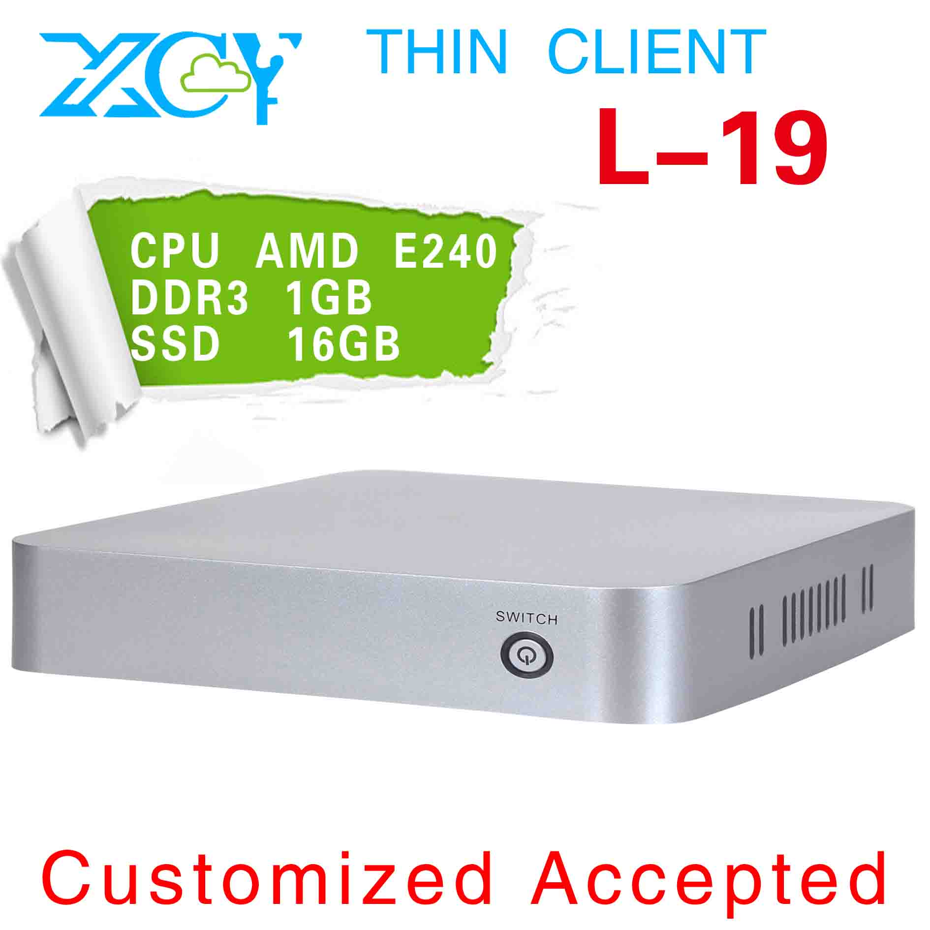 XCY L-19 mini linux computers mini htpc slim pc case ATI Radeon HD 6310 Graphics (512MB) Graphics Card Type(China (Mainland))
