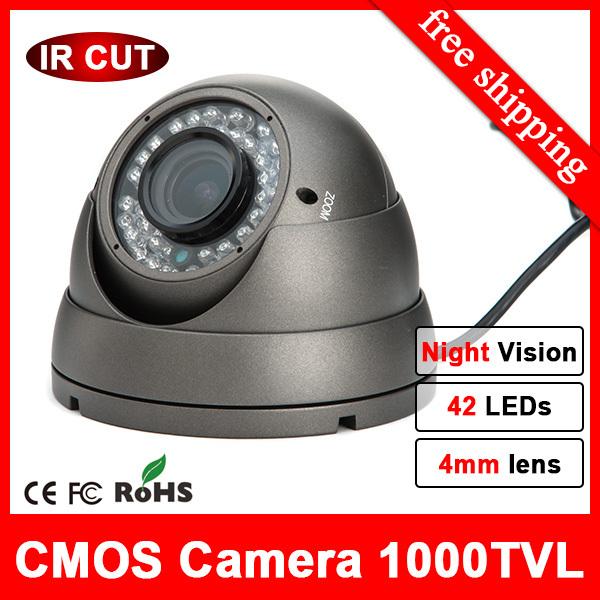 HD 960H Eyeball Dome Camera CCTV 1000tvl 42 IR Security Video CCTV Cameras waterproof Alloy Casing Infrared thermal CCTV Camera(China (Mainland))