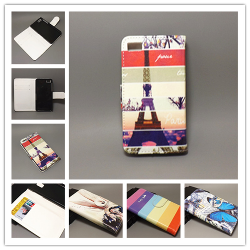 NewColor pattern Flag Designer Wallet Flip For blackberry z10 ,with 2 Card Holder fs(China (Mainland))